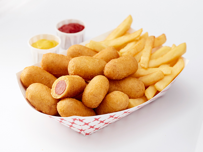 Image result for mini foster farms corn dogs dip