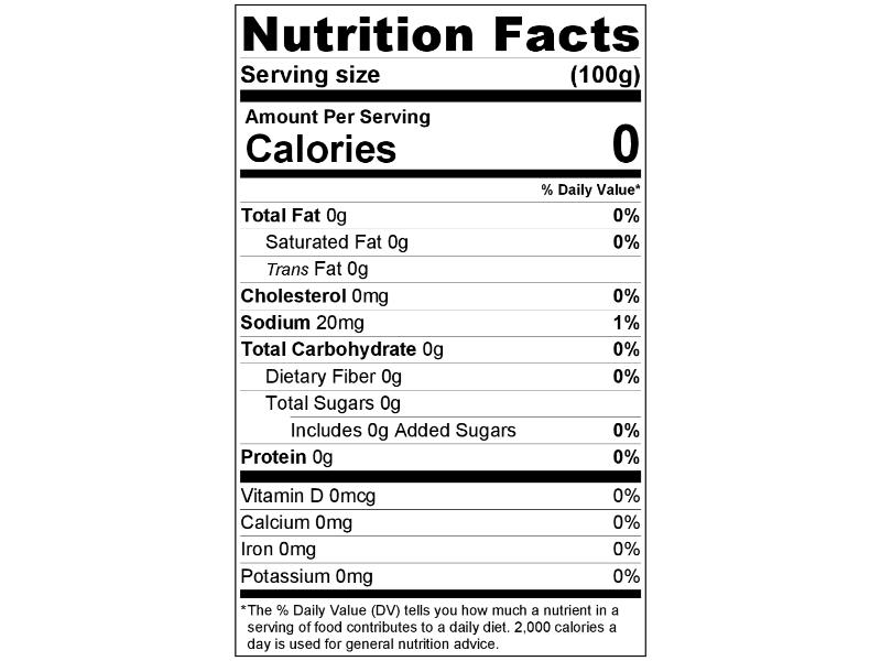 Imitation Vanilla Flavor Nutrition