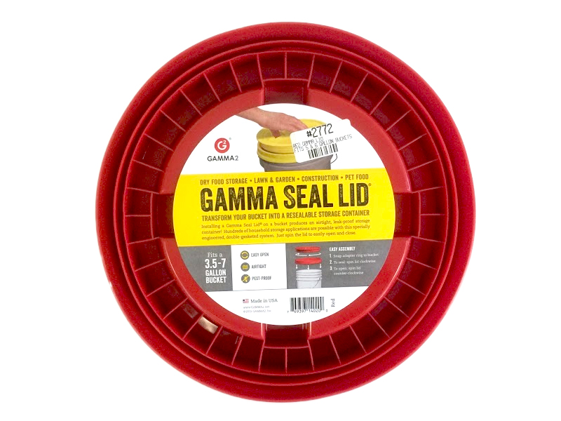 Price Container Gamma Lid - Red, Fits 5 & 6 gal  Buckets EACH