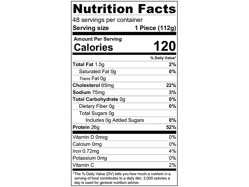 4 Oz Boneless Skinless Chicken Breast Nutrition Facts Nutritionwalls